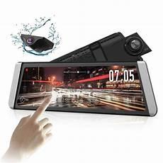 10 quot touch screen media dual lens mirror dash