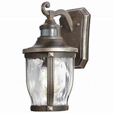 home decorators collection mccarthy 1 light bronze with gold highlights outdoor motion sensor