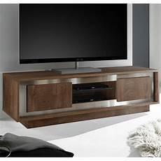 meuble tele couleur bois et chrome kasalinea