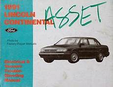 electric and cars manual 1991 lincoln continental electronic toll collection 1991 lincoln continental electrical vacuum troubleshooting manual original evtm ebay