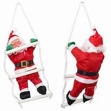 weihnachtsm 228 nner auf leiter 65cm weihnachts mann deko