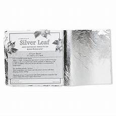 silver leaf sheet 100 aluminum 5 1 2 5 1 2 inches sold per pkg of 25 sheets fire