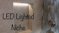 how to make a lighted led tile niche youtube