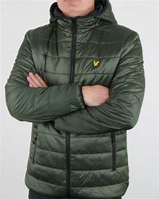 lyle and cooke insulated foil jacket olive mens quilted zip