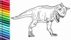 jurassic world dinosaurs coloring pages 16737 how to draw the carnotaurus from jurassic world dinosaurs color pages for children