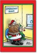 Santa In The Emergency Room Card  NobleworkscardsCom