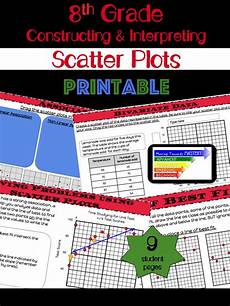 9 worksheets to teach students how to construct and interpret scatter plots guided sheets start