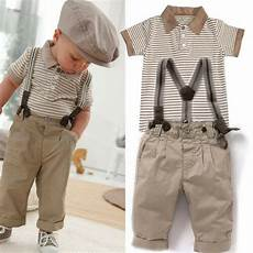 baby boys toddlers striped t shirt braces trousers