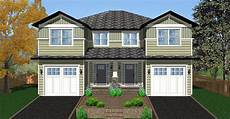 plans for duplex houses side by side craftsman duplex house plan 67717mg
