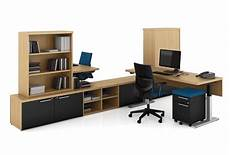 quorum modern adjustable height office desk with bookcase and storage ebay