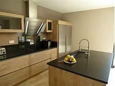 cuisine design graveson bois ilot central 233 vier inox hotte