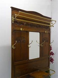 garderobe antik jugendstil garderobe flurgarderobe jugendstil um 1900 eiche massiv 2488 ebay