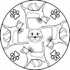 mandala katzen ausmalbild