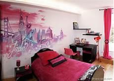 décoration murale chambre fille chambre ado fille decoration d interieur idee