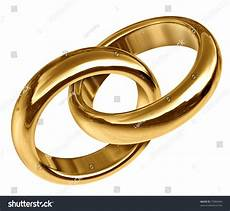wedding rings linked together representing the concept of eternal love and the start of a new