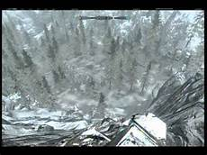 ice forms funny skyrim glitch ice form on a hill youtube