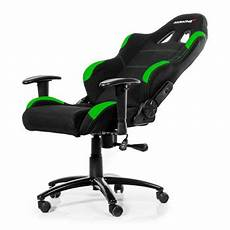 akracing fabric gaming chair in black green suitable for