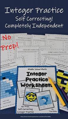 division worksheets exles 6175 integers add subtract multiply divide worksheets distance learning integers activities