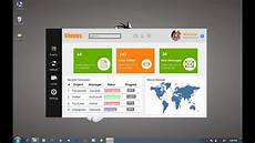 how to design a flat dashboard in winform application