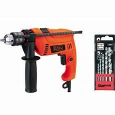 shop black decker 13mm hammer drill 650w 5pcs bits set
