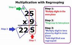 multiplying whole numbers with without regrouping