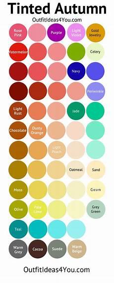 tinted autumn color palette soft autumn light seasonal