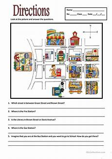 giving directions worksheets 11680 directions worksheet free esl printable worksheets made by teachers