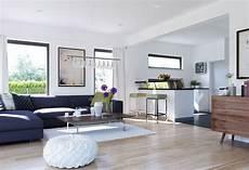 wohnzimmer mit küche ideen wohnzimmer ideen mit offener k 252 che inneneinrichtung haus edition 3 v5 bien zenker fertighaus