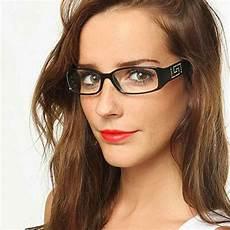 trendy rectangular clear lens glasses plastic frame with stones eyeglasses ebay