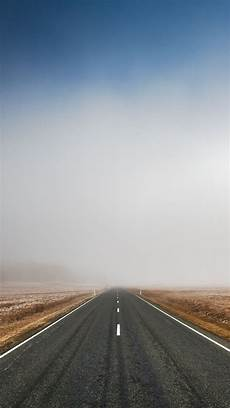 way background iphone endless road fog iphone wallpaper in 2019 iphone
