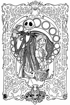 20 free printable nightmare before coloring