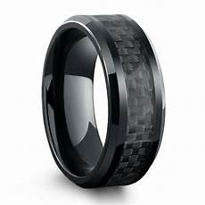 men black wedding rings all black titanium ring mens wedding band with carbon