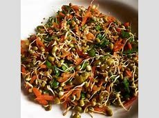 sprouted mung bean salad image