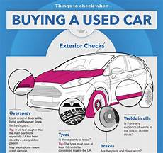 how to inspect a used car for purchase youtube infographic things to check when buying a used car