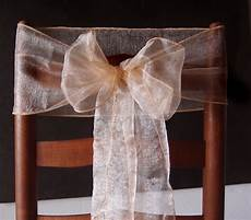 peach organza chair sashes bows table runners 6 5in x 9ft 10 pack on sale now wedding