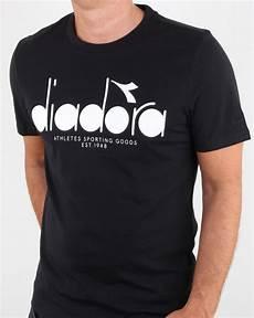 diadora logo t shirt black optical diadora casual