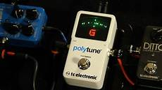 tc polytune 2 tc electronic polytune ii tuner demo with russel gray