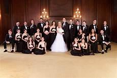black wedding party attire