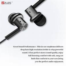 Zuzg Metal Noise Reduction Wired Earphone by Zuzg E26 Metal Noise Reduction Wired In Ear Earphone