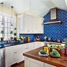 Blue Glass Tile Kitchen Backsplash 35 Ways To Use Subway Tiles In The Kitchen Digsdigs