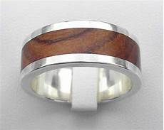 men s inlay silver wedding ring love2have in the uk