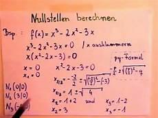 nullstellen berechnen funktion 3 grades