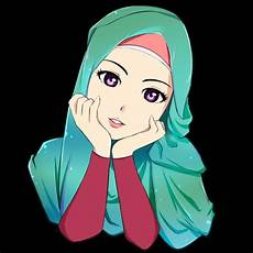 Gambar Wanita Muslimah Berhijab Cantik Kartun Gambar