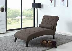 Brown Fabric Chaise Lounge Sofa Living Room