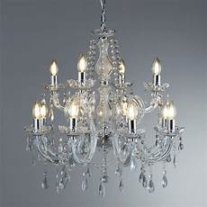marie therese 12 light chandelier chrome clear crystal