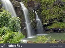 triple tropical waterfall picture