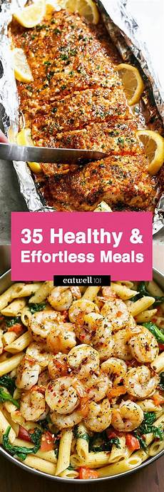 easy healthy dinner ideas 46 low effort and healthy dinner recipes eatwell101