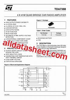 Tda7388 Datasheet Pdf Stmicroelectronics