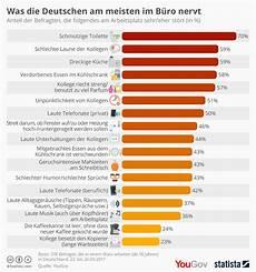 wichtig bei der dachbeschichtung der infografik was die deutschen im b 252 ro nervt statista