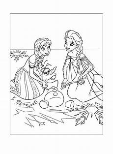 frozen coloring page elsa olaf